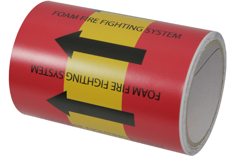Vinyl Unlaminated Pipe Marking Image