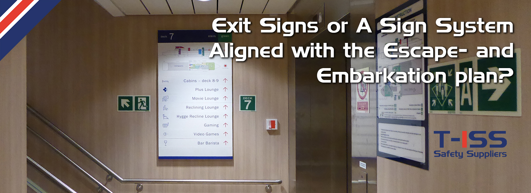 A Sign System Aligned with the Escape- and Embarkation plan by T-ISS Safety Suppliers