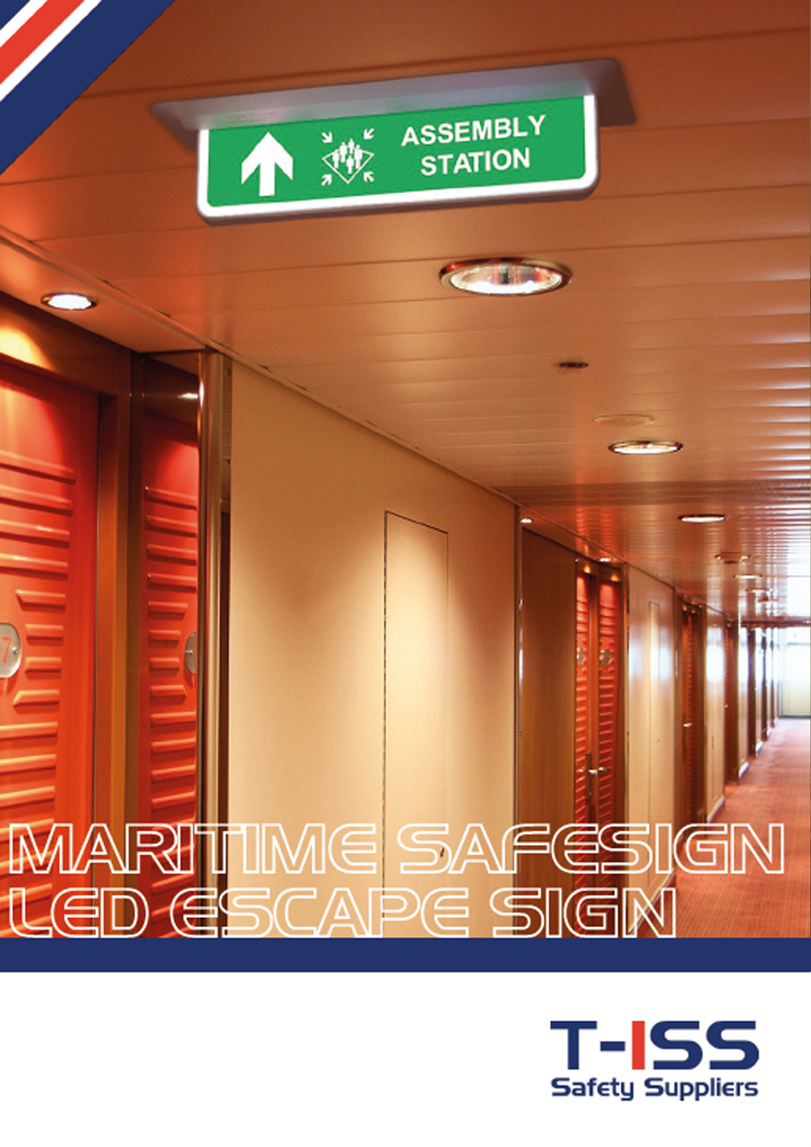 Flyer SafeSign LED Escape Sign Maritime by T-ISS Safety Suppliers