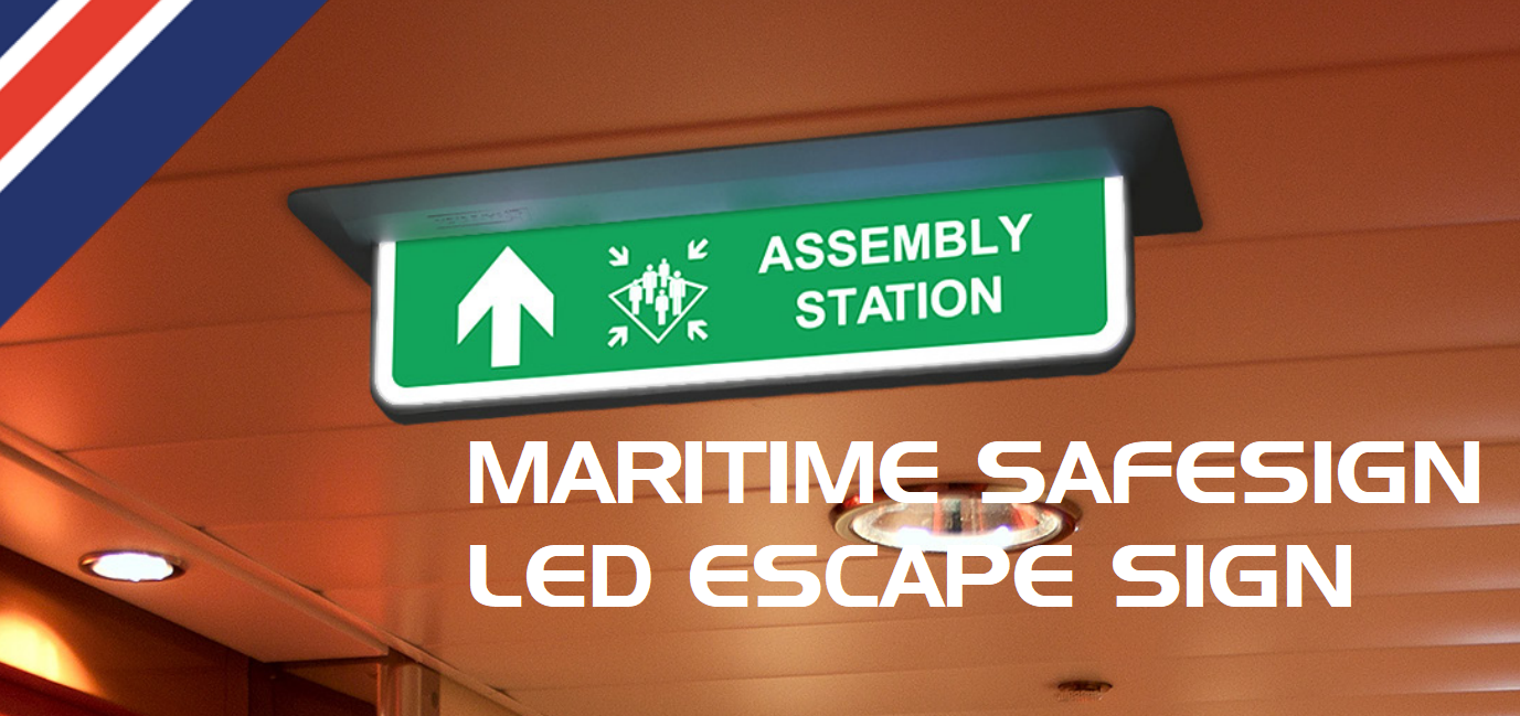Maritime SafeSign Led Escape Sign by T-ISS Safety Suppliers
