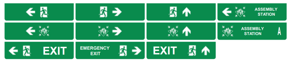 Maritime SafeSign Led Escape Sign designs by T-ISS Safety Suppliers