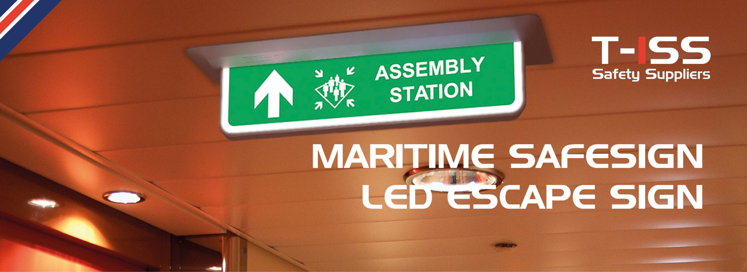 SafeSign LED Escape Sign by T-ISS Safety Suppliers