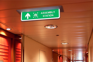 Maritime SafeSign LED Escape Sign2 by T-ISS Safety Suppliers