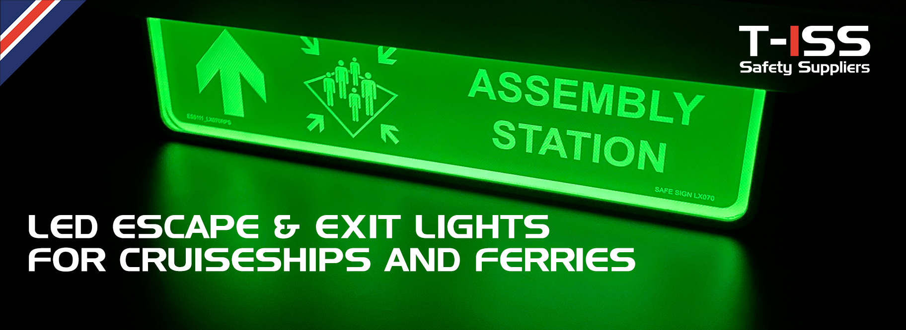 LED Escape signs & Exit lights by T-ISS Safety Suppliers