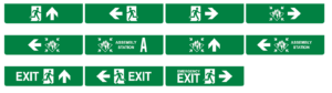 LED Escape sign by T-ISS Safety Suppliers