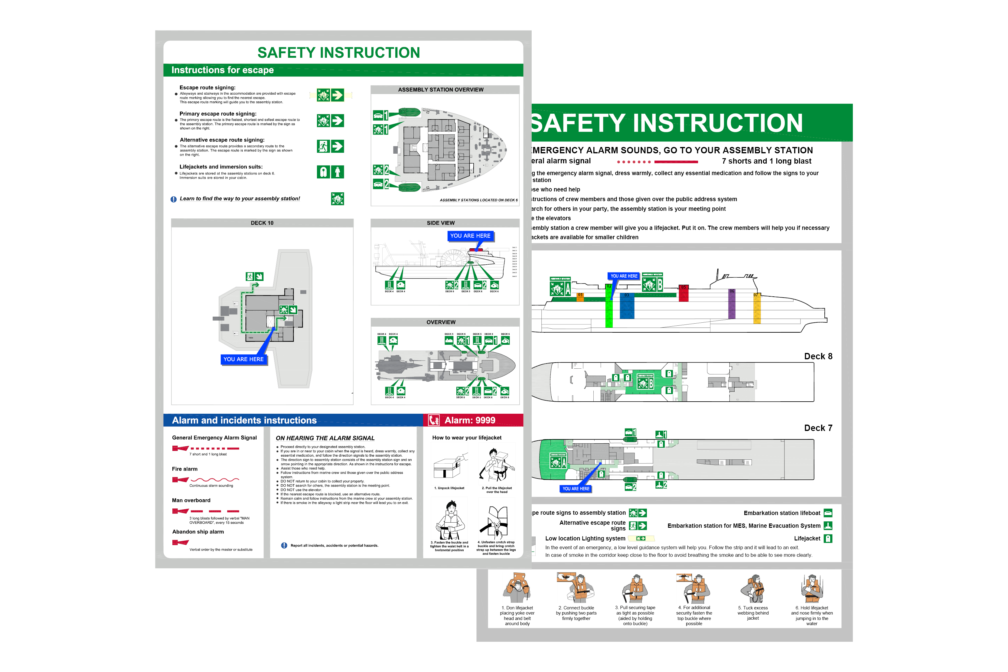 Safety Instruction Signs Image