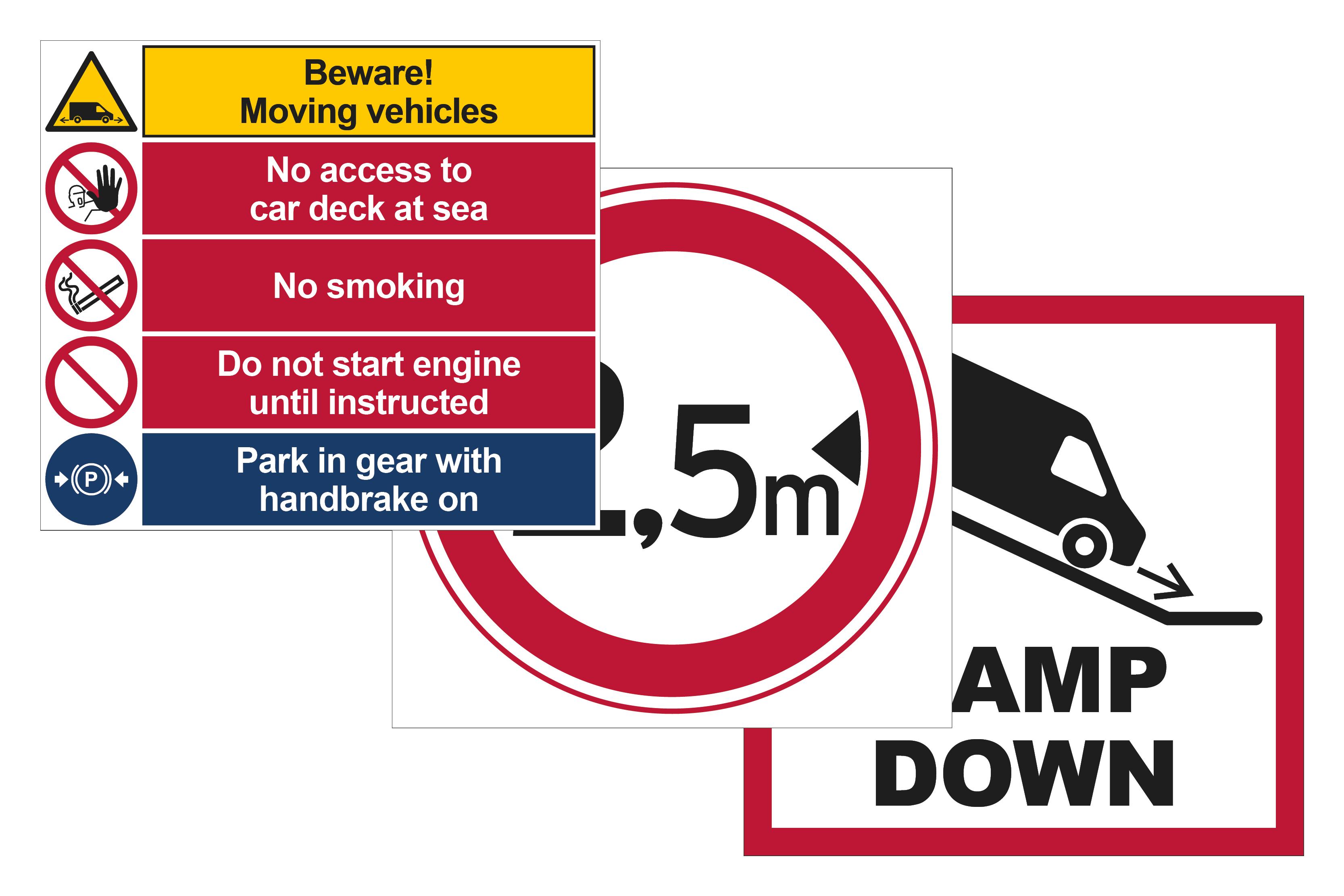 Car Deck Signs Image