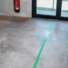 Floor Marking Tape Green Red applied T-ISS Safety Suppliers