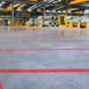 Floor Marking Tape Red applied T-ISS Safety Suppliers
