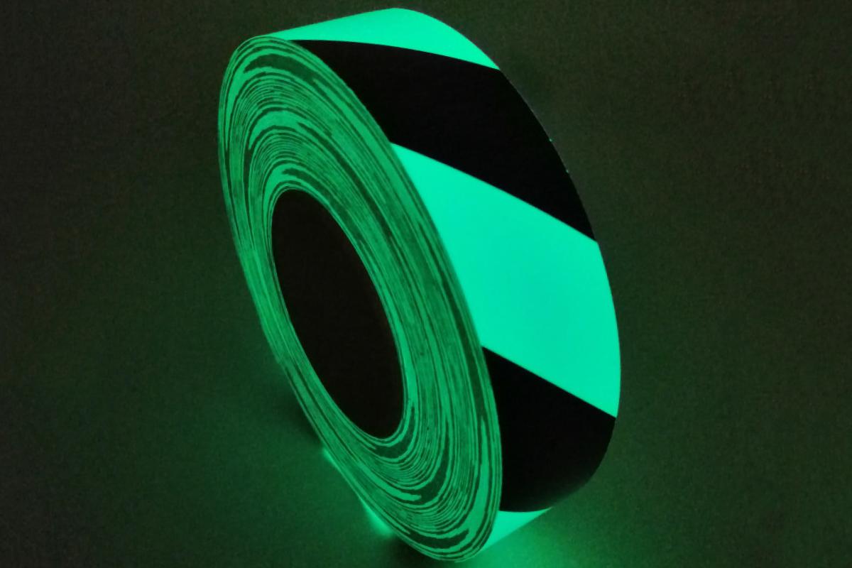 Safety Marking Tape Photoluminescent Image