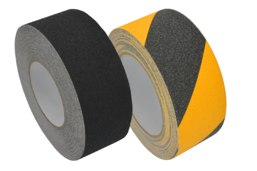 Anti Slip tape black and black& yellow T-ISS Safety Suppliers